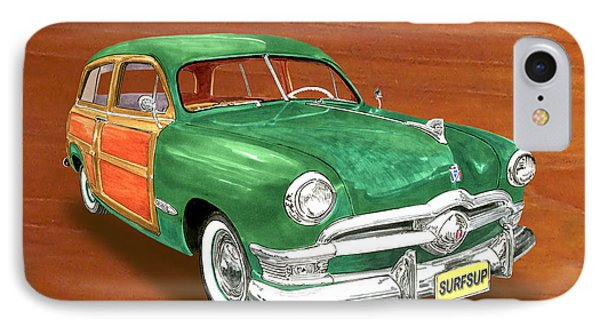 1950 Ford Country Squire Woody Phone Case by Jack Pumphrey