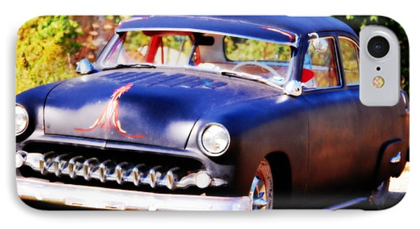 IPhone Case featuring the photograph 1950 Ford  Vintage by Peggy Franz