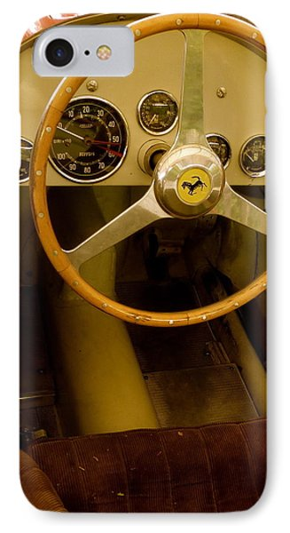 IPhone Case featuring the photograph 1952 Ferrari 500 625 Cockpit by John Colley