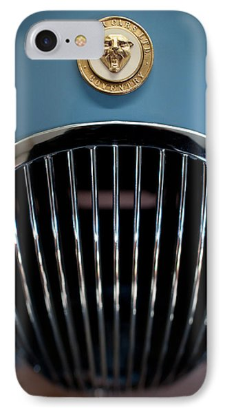 1952 Jaguar Hood Ornament And Grille IPhone Case by Sebastian Musial