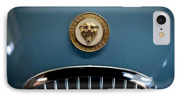 1952 Jaguar Hood Ornament IPhone Case by Sebastian Musial