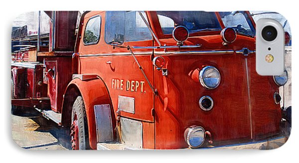 1954 American Lafrance Classic Fire Engine Truck Phone Case by Kathy Clark