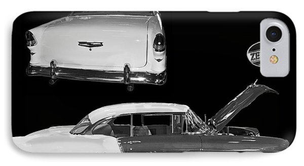 1955 Chevy Bel Air 2 Door Hard Top Phone Case by Tim Mulina