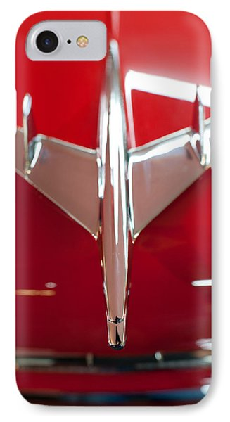 1955 Chevy Belair Hood Ornament IPhone Case by Sebastian Musial