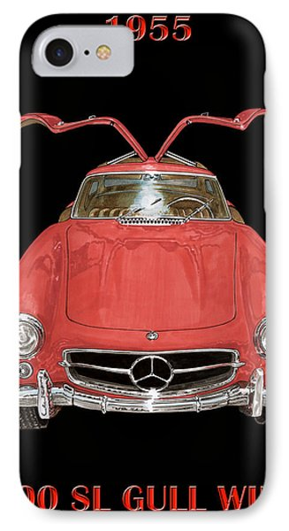 1955 Mercedes Benz 300sl Gull Wing  Phone Case by Jack Pumphrey