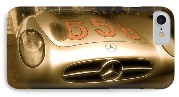 IPhone Case featuring the photograph 1955 Mercedes Benz 300slr Fangio by John Colley