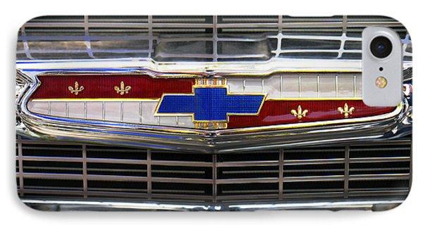 1956 Chevrolet Grill Emblem Phone Case by Mike McGlothlen
