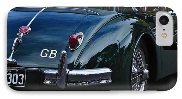 1956 Jaguar Xk 140 - Rear And Emblem Phone Case by Kaye Menner