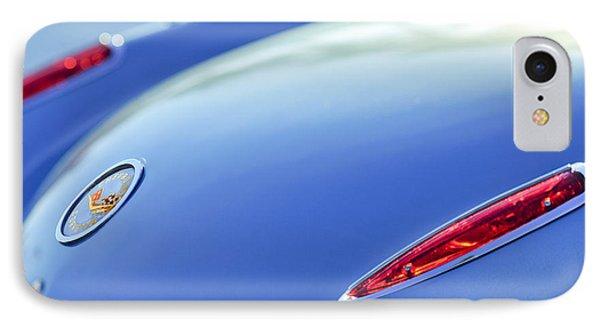 1959 Chevrolet Corvette Taillight Emblem Phone Case by Jill Reger