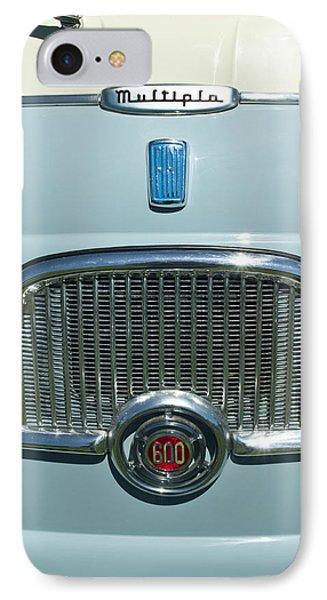 1959 Fiat Multipia Hood Emblem Phone Case by Jill Reger