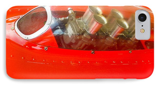 IPhone Case featuring the photograph 1960 Ferrari 246s Dino Hood Detail by John Colley
