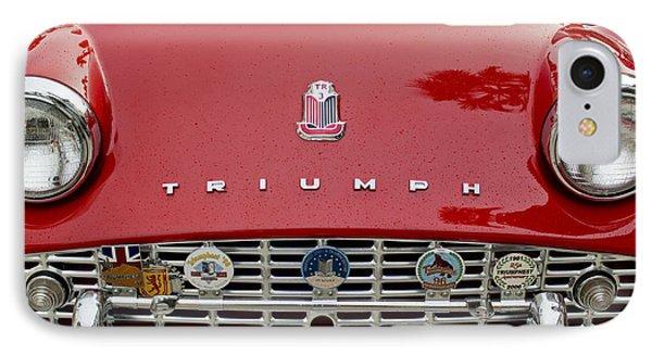 1960 Triumph Tr 3 Grille Emblems Phone Case by Jill Reger