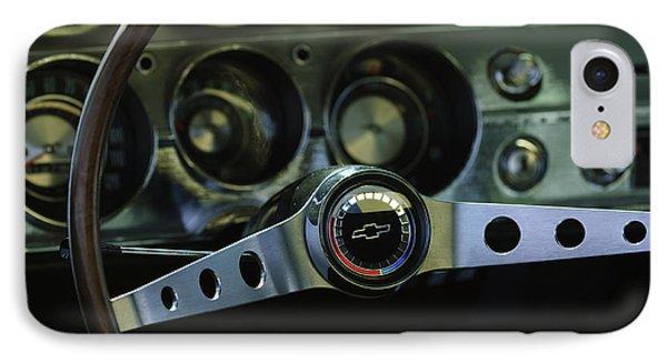 1965 Chevrolet Chevelle Malibu Ss Steering Wheel Phone Case by Jill Reger