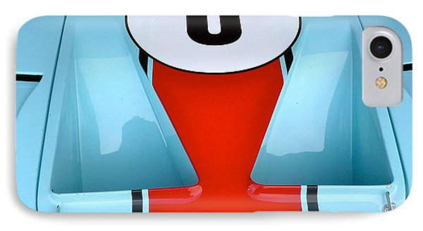 IPhone Case featuring the photograph 1965 Ford Gt40 Hood Detail by John Colley