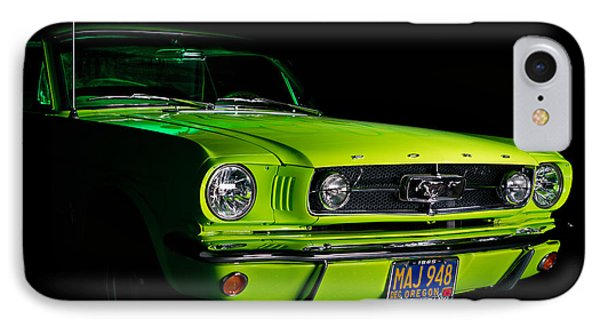 IPhone Case featuring the photograph 1965 Ford Mustang by Jim Boardman