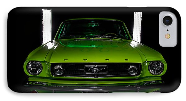 IPhone Case featuring the photograph 1965 Mustang by Jim Boardman
