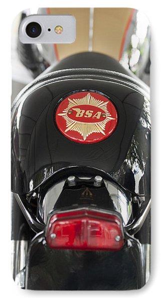 1966 Bsa 650 A-65 Spitfire Lightning Clubman Motorcycle Phone Case by Jill Reger