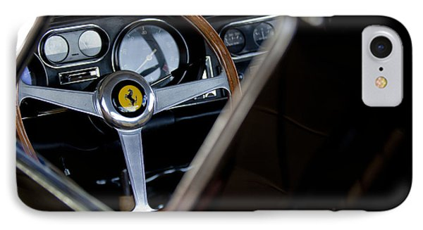 1967 Ferrari 275 Gtb 4 Steering Wheel Emblem Phone Case by Jill Reger
