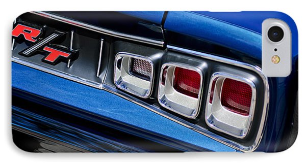 1968 Dodge Coronet Rt Hemi Convertible Taillight Emblem Phone Case by Jill Reger