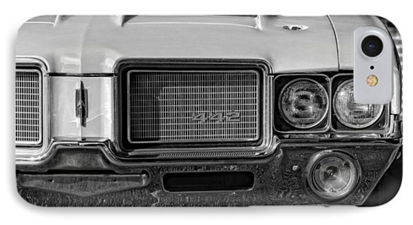 1972 Olds 442 Black And White  Phone Case by Gordon Dean II