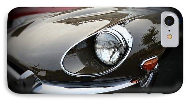1973 Jaguar Type E Front Phone Case by Paul Ward