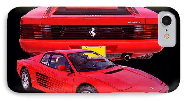1990 Ferrari Testarossa IPhone Case