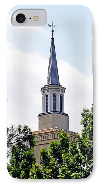 IPhone Case featuring the photograph 1st Presbyterian Steeple by Kay Lovingood