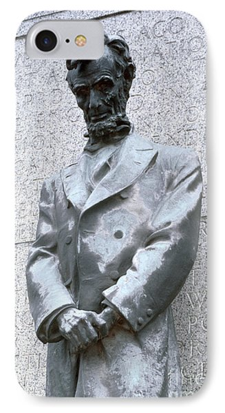 Abraham Lincoln Statue IPhone Case by Granger