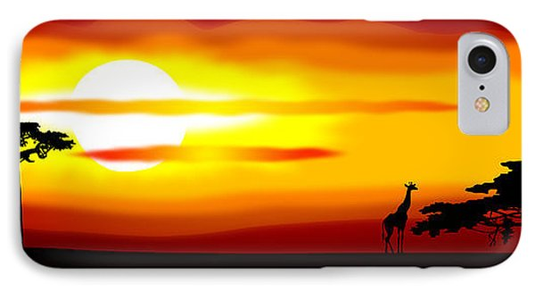 Africa Sunset Phone Case by Michal Boubin