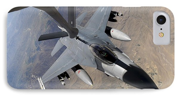 An F-16 Fighting Falcon Receives Fuel Phone Case by Stocktrek Images