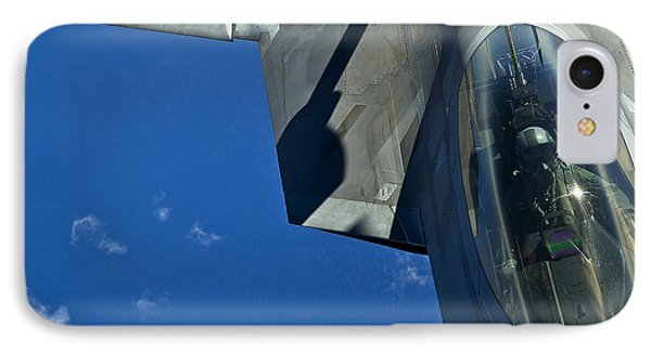 An F-22 Raptor In Flight Phone Case by Stocktrek Images