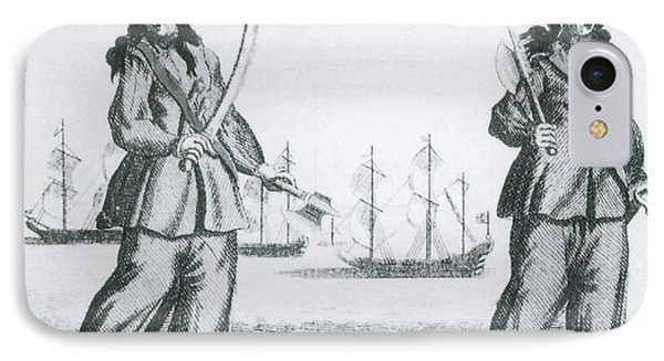 Anne Bonny And Mary Read, 18th Century Phone Case by Photo Researchers