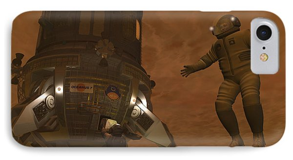 Artists Concept Of Astronauts Exploring Phone Case by Walter Myers