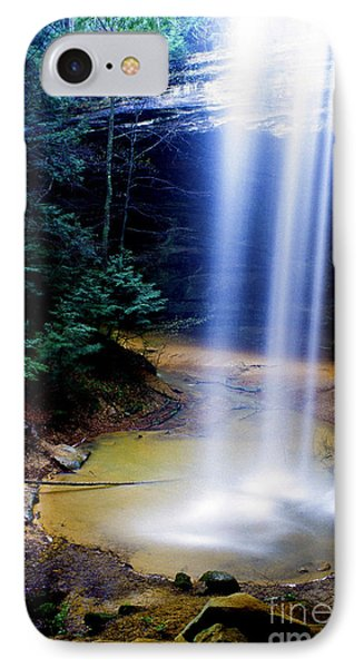 Ash Cave Waterfall Phone Case by Thomas R Fletcher