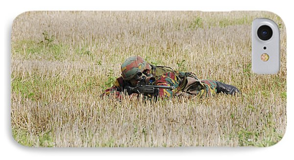 Belgian Paratroopers On Guard Phone Case by Luc De Jaeger