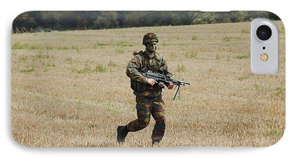 Belgian Paratroopers Proceeding Phone Case by Luc De Jaeger