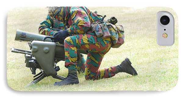 Belgian Soldiers Setting Up The Milan Phone Case by Luc De Jaeger