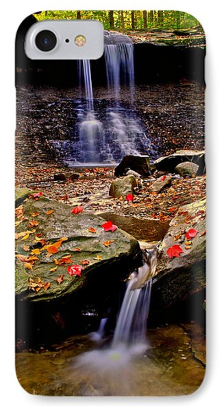 Blue Hen Falls Phone Case by Frozen in Time Fine Art Photography