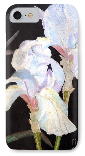 IPhone Case featuring the painting Blue Iris by Rod Ismay