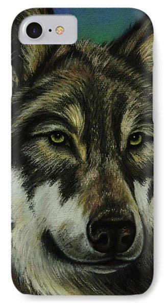 Blue Wolf Phone Case by Lucy Deane