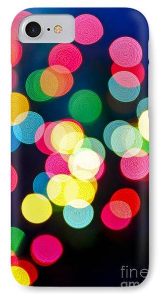 Blurred Christmas Lights IPhone Case by Elena Elisseeva