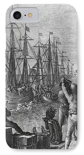 Boston Tea Party, 1773 IPhone Case by Photo Researchers