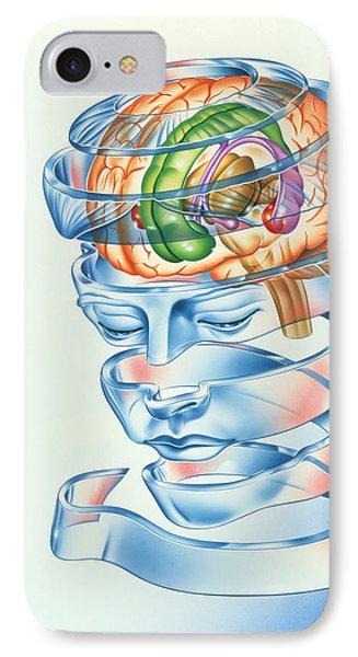 Brain Limbic System Phone Case by John Bavosi