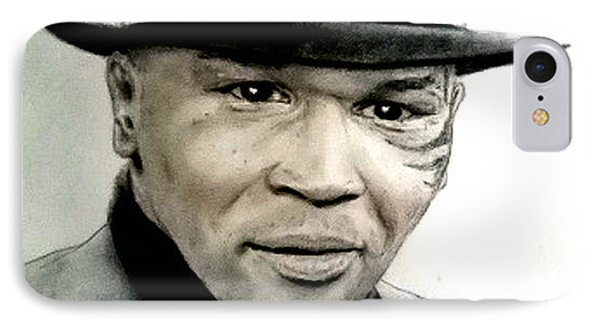 IPhone Case featuring the pastel Champion Boxer And Actor Mike Tyson by Jim Fitzpatrick