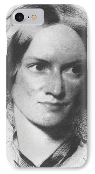 Charlotte Bronte, English Author Phone Case by Science Source