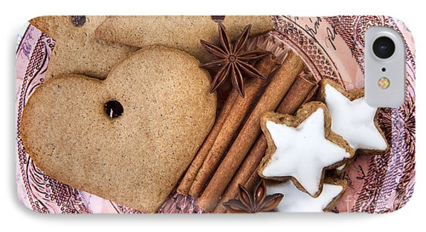 Christmas Gingerbread IPhone Case by Nailia Schwarz