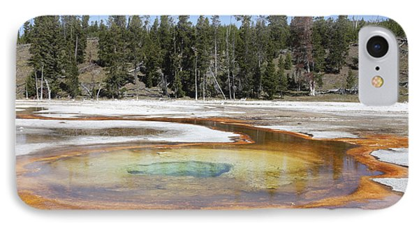 Chromatic Pool Hot Spring, Upper Geyser Phone Case by Richard Roscoe
