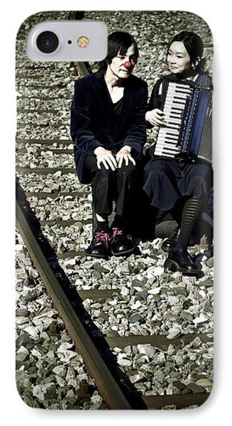 Clown Couple Phone Case by Joana Kruse
