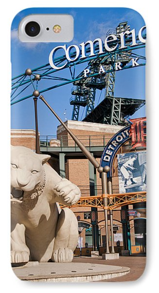 Comerica Park Phone Case by Cindy Lindow