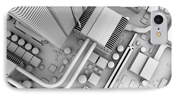 Computer Motherboard, Artwork IPhone Case